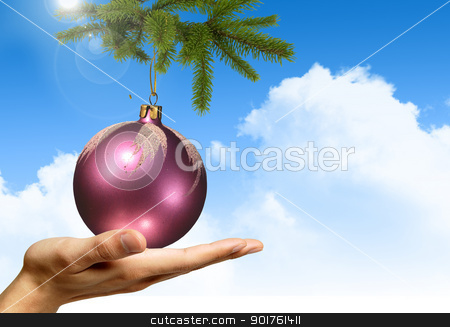 Merry Christmas stock photo, Merry Christmas Elegant Suggestive Background by Diana