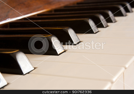 keys of piano stock photo, close up of the keys of a piano by Lutya