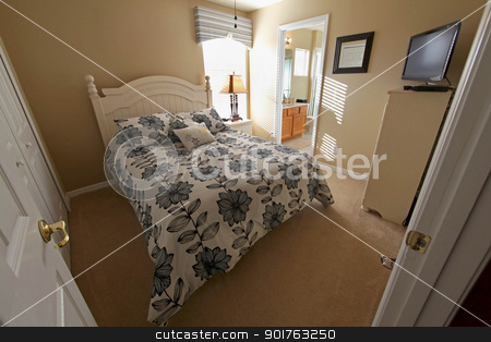 Queen Master Bedroom stock photo, Queen Master Bedroom, an Interior Shot of a Home by Lucy Clark
