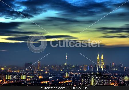 Kuala Lumpur stock photo, Kuala Lumpur view at dawn, Malaysia Capital City.  by szefei