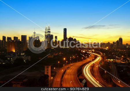 Kuala Lumpur Twilight stock photo, Kuala Lumpur is the capital city of Malaysia. by szefei