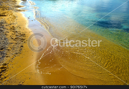 Beach - Malta stock photo, Orange sands in Gnejna Bay - Malta by Lenise Zerafa