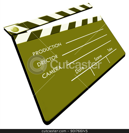 Clapboard stock photo, Film Clapboard,2D art by Janaka Dharmasena