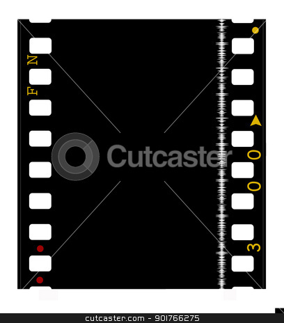 35mm Film frames stock photo, 35mm Film frames,2D art by Janaka Dharmasena