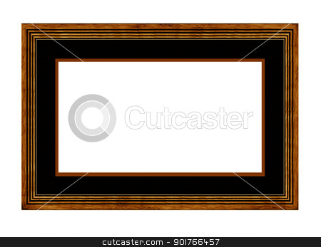 wood Picture Frame with mount stock photo, wood Picture Frame with mount by Janaka Dharmasena