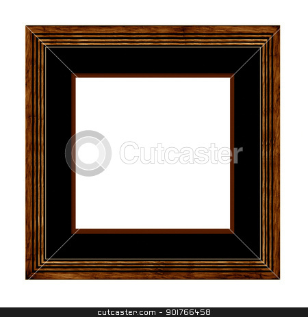 wood Picture Frame stock photo, wood Picture Frame with mount by Janaka Dharmasena