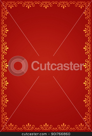 Decorative border stock photo,  Decorative border,2D art by Janaka Dharmasena