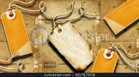 Black price tags stock photo, Black price tag with old textured background  by Janaka Dharmasena