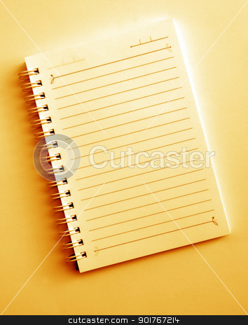 Spiral notepad stock photo, Close up of blank Spiral notepad by Janaka Dharmasena