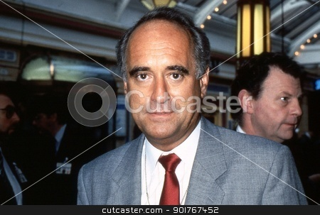 Dr. Brian Mawhinney stock photo, Dr. Brian Mawhinny, Conservative party Member of Parliament for Peterborough, attends the party conference in Blackpool, England on October 10, 1989. by newsfocus1