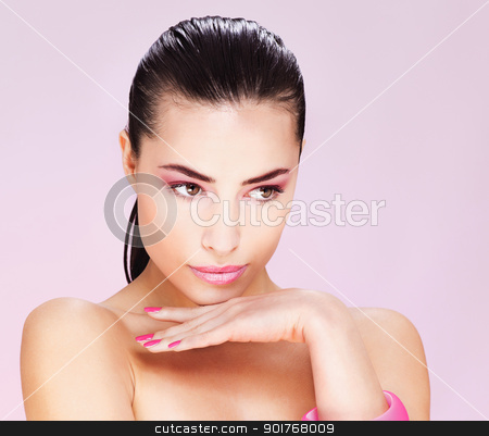 pretty young woman stock photo, Portrait of a pretty young woman by iMarin