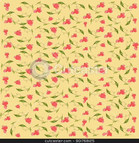 vintage vector floral background stock vector clipart, vintage vector floral background by balasoiu