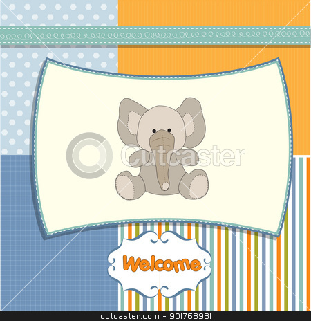 new baby arrived card stock vector clipart, new baby arrived card by balasoiu