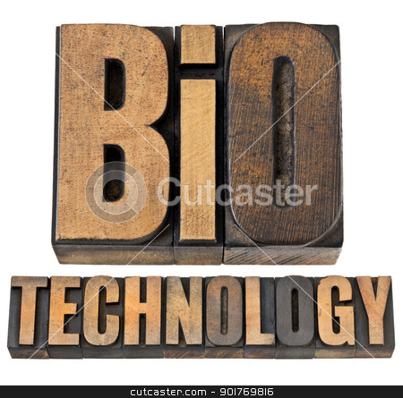 bio technology in wood type stock photo, bio technology  - biotech concept - isolated text in vintage letterpress wood type by Marek Uliasz
