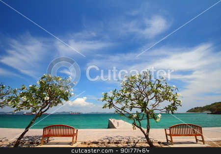 Beach and tropical island scenic stock photo, Beach and tropical island scenic, koh Si  chang island Chonburi Thailand  by kongsky
