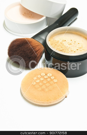 cosmetics for woman stock photo, cosmetics to help conceal the wrinkles on the face by Cherdchoosak Ngernsiam