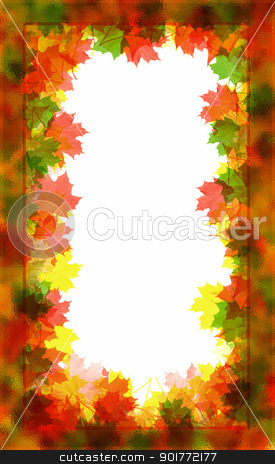 Autumn Frame stock photo, Beautiful autumn frame consisting of a maple leaf. by Liubov Nazarova