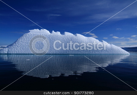 Iceberg in Antarctica  stock photo, Iceberg in Antarctica under the global warming issue by King Ho Yim