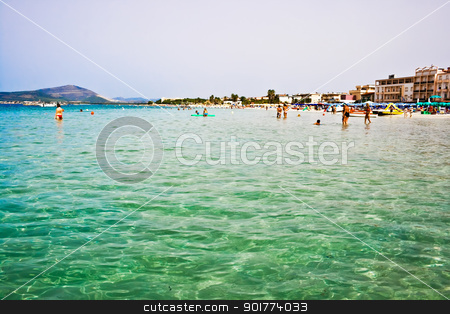 Sunny beach in Italy stock photo, Sunny beach of Alghero in Sardinia, Italy by Alexey Popov