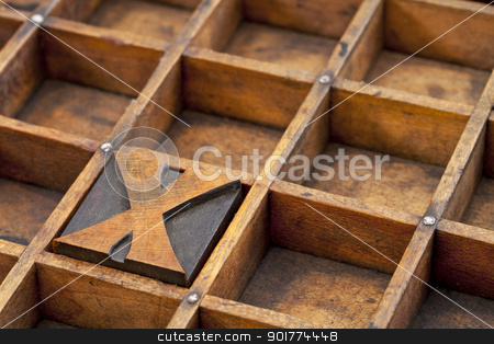 letterpress  letter X abstract stock photo, letter X abstract - vintage letterpress printing block in grunge wood typesetter box with dividers by Marek Uliasz