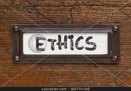 ethics tag - file cabinet label stock photo, ethics tag - file cabinet label, bronze holder aga by Marek Uliasz
