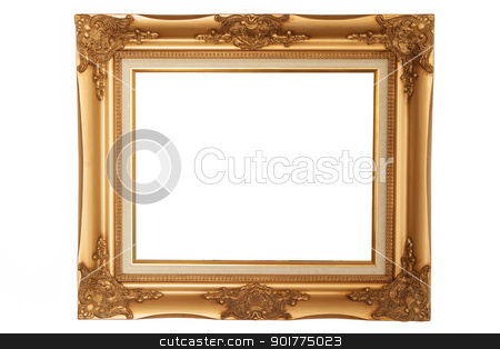 Picture frame on white background stock photo, Picture frame on white background by Ekkapon