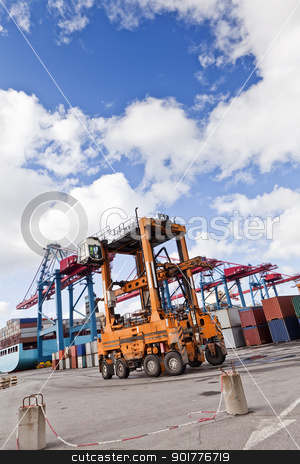 Commercial Dock stock photo, Loading at the commercial dock by Anne-Louise Quarfoth