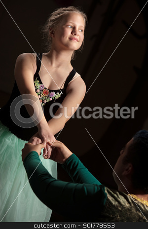Graceful Ballet Performance stock photo, Graceful young ballet student performing with partner by Scott Griessel