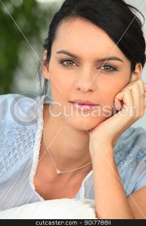 Portrait of brunette stock photo, Portrait of brunette by photography33