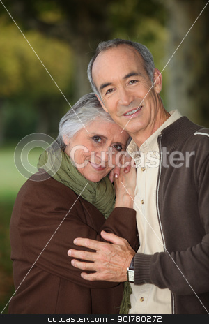 Elderly couple taking a walk stock photo, Elderly couple taking a walk by photography33