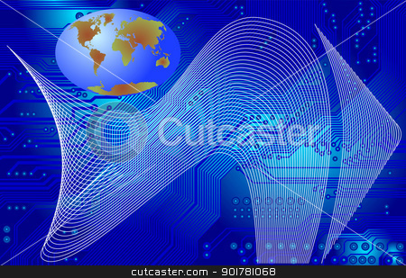 global communication stock vector clipart, Abstract image - technology abstract - global communication by Siloto