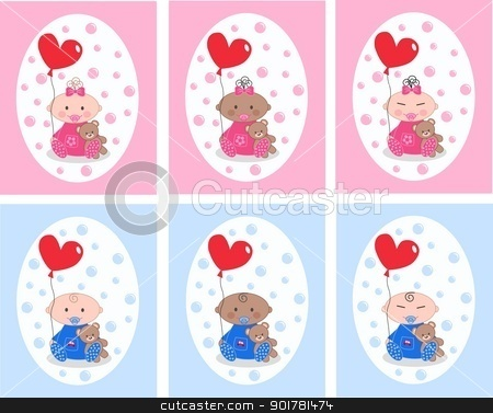 baby announcement stock vector clipart, baby announcement by Popocorn