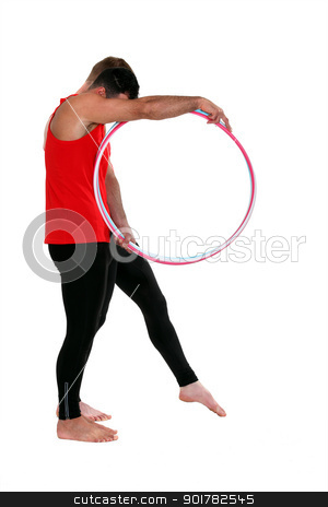 Male gymnast with hoops stock photo, Male gymnast with hoops by photography33