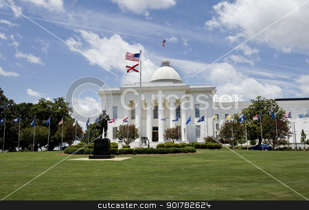 State Capital Building in Alabama. stock photo, State Capital Building in Montgomery,Alabama. by WScott