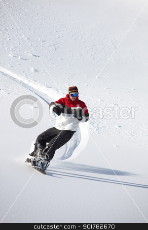 Man snowboarding stock photo, Man snowboarding by photography33