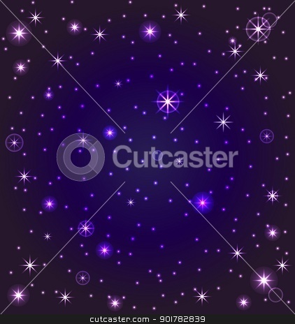 vector illustration of a night sky with stars stock vector clipart, vector illustration of a night sky with stars by trina