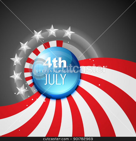 american flag vector stock vector clipart, 4th july american independence day vector by pinnacleanimates
