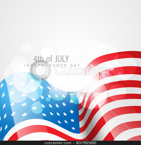american flag vector stock vector clipart, vector american flag on white background by pinnacleanimates