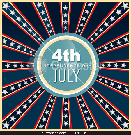 4th of july american independence day stock vector clipart, 4th of july american independence day vector by pinnacleanimates
