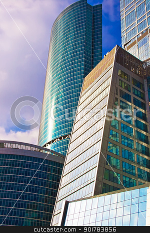 Skyscrapers stock photo, Skyscrapers of the International Business Centre, Moscow by Alexey Popov
