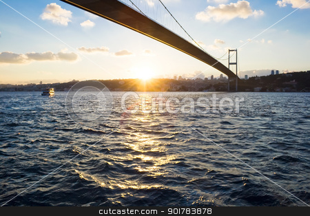 Bosphorus Bridge stock photo, The Bosphorus Bridge which connects Europe and Asia by Alexey Popov