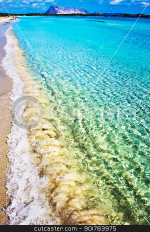 perfect beach stock photo, White sandy beach Cinta near San-Teodoro, Sardinia, Italy by Alexey Popov