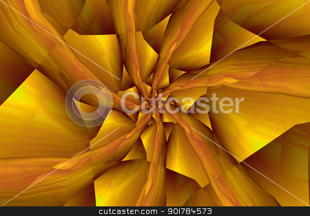 Spiral Arms in Yellow an Orange stock photo, Digital abstract fractal image with a spiral design in yellow and orange. by Colin Forrest