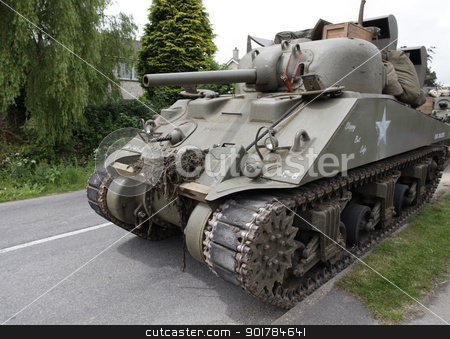 World War 2 Tank stock photo, US World War 2 Tank by Ollie Taylor