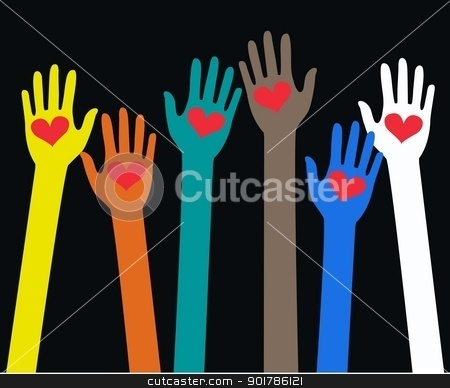 reaching arms stock vector clipart, reaching arms by Popocorn