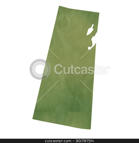 Saskatchewan map on green paper stock photo, Saskatchewan province of Canada map in old green paper isolated on white background. by Martin Crowdy