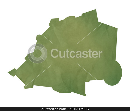 Vatican City map on green paper stock photo, Vatican City map in old green paper isolated on white background. by Martin Crowdy