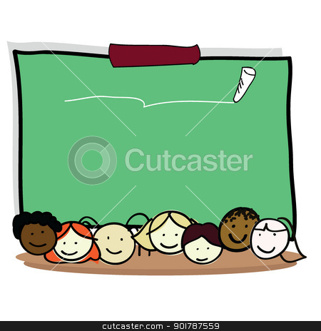 cartoon kids stock vector clipart, cartoon kids of boy and girls for children, fun, school and others by glossygirl21
