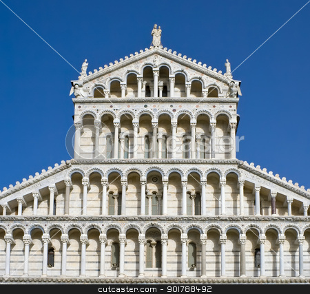Pisa stock photo, Cathedral on Square of Miracles in Pisa, Italy by Alexey Popov