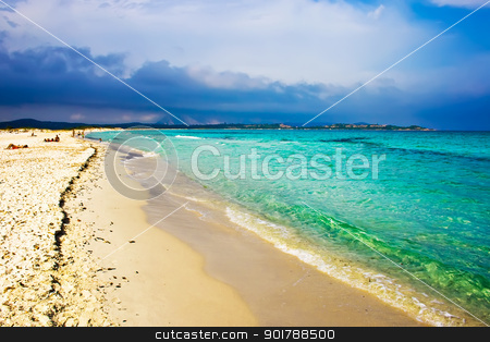 La Cinta beach stock photo, Beautiful beach La Cinta near San-Teodoro, Sardinia, Italy by Alexey Popov